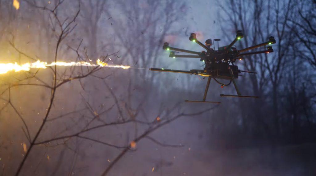 Skynet kommt näher: fliegender Flammenwerfer