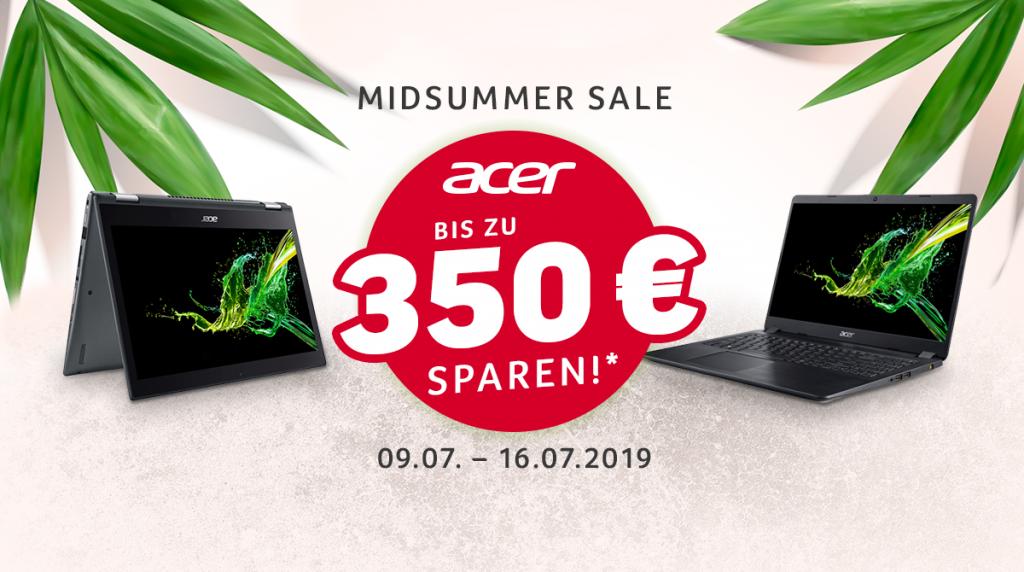 Acer Midsummer Sale: Bis zu 350 Euro sparen