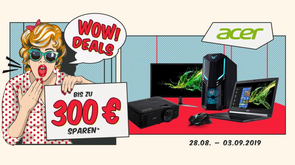 Spart bis zu 300 Euro bei unseren Acer WOW Deals