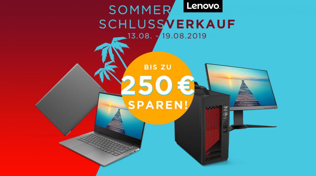 Spart bis zu 250 Euro! Der Lenovo Sommer Schlussverkauf ist da!