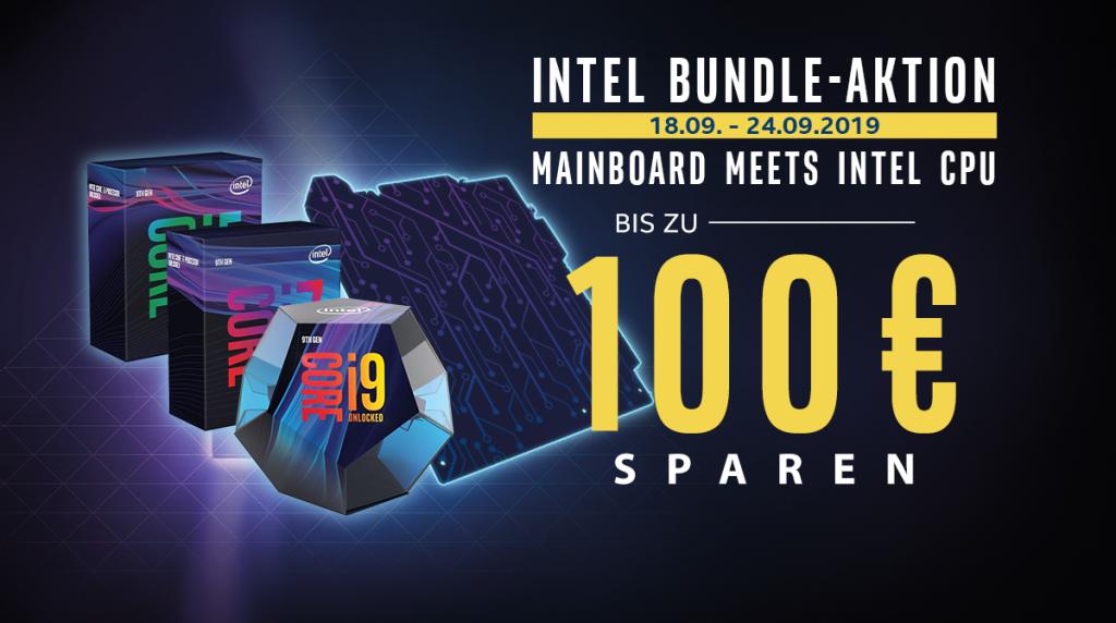 Spare bis zu 100 Euro beim Kauf eines neuen Mainboards und neuer Intel-CPU