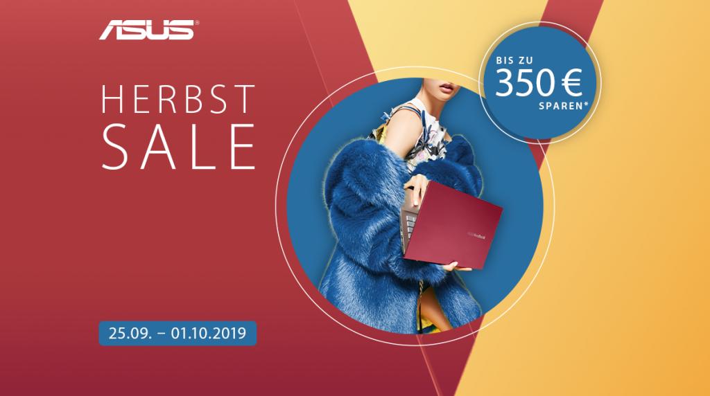 Bis zu 350 Euro Ersparnis beim ASUS Herbst Sale