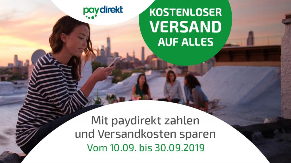 Für kurze Zeit: Keine Versandkosten bei Zahlung mit paydirekt