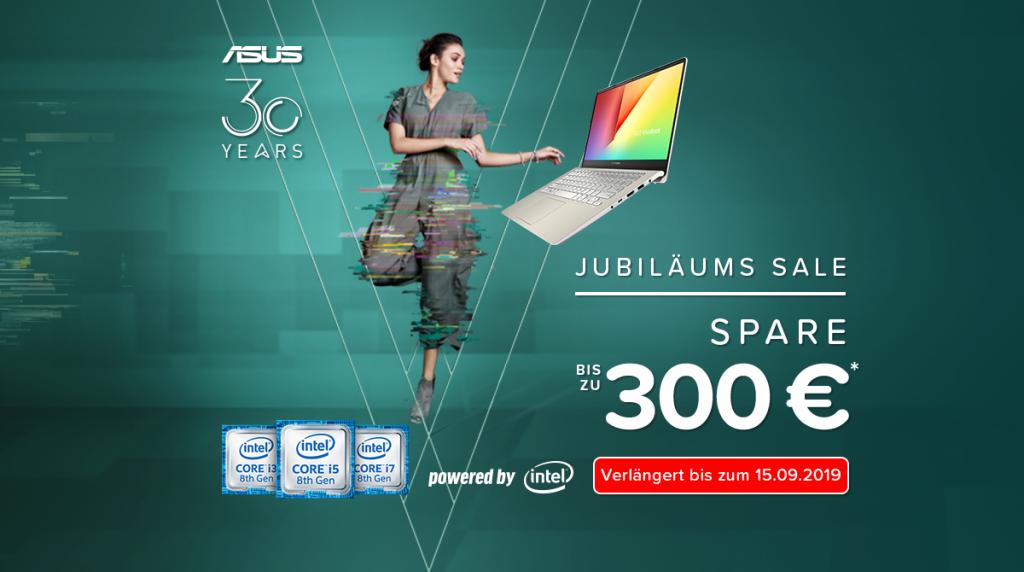 Spare bis zu 300 Euro beim ASUS Jubiläums Sale