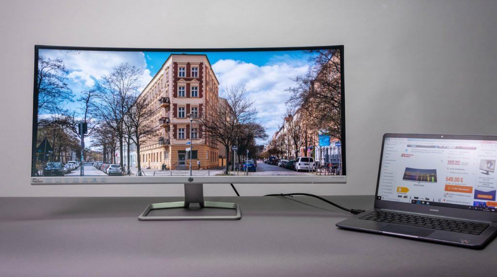 HP 34f im Test: schlanker UWQHD-Monitor mit AMD FreeSync