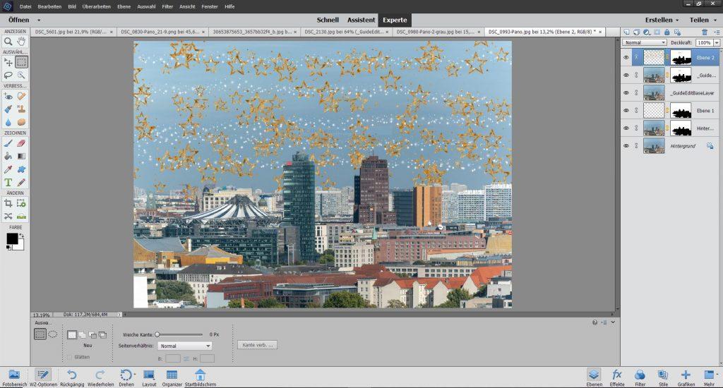 Musterpinsel Adobe Photoshop Elements 2020