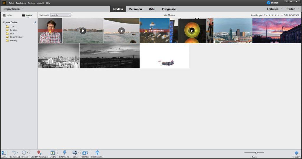 Startseite Adobe Elements Organizer