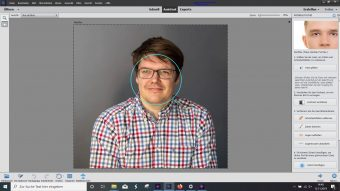 Adobe Photoshop Elements 2020 ; Perfektes Portrait vorher