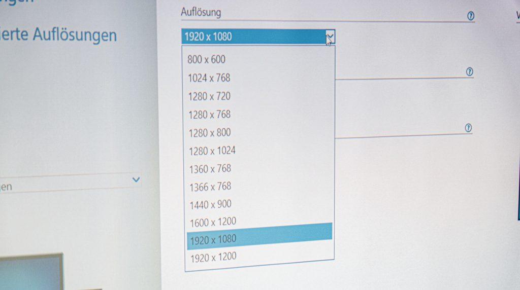 Acer X1623H Auflösung 16:9 vs 16:10