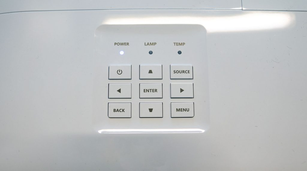 Acer X1623H Bedienelemente