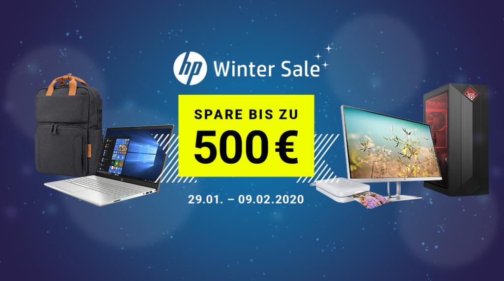 Spare bis zu 500 Euro beim HP Winter Sale
