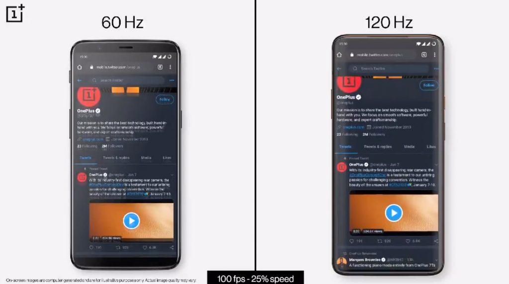 Smartphone-Displays: Der Unterschied zwischen 60 und 120 Hz im Video