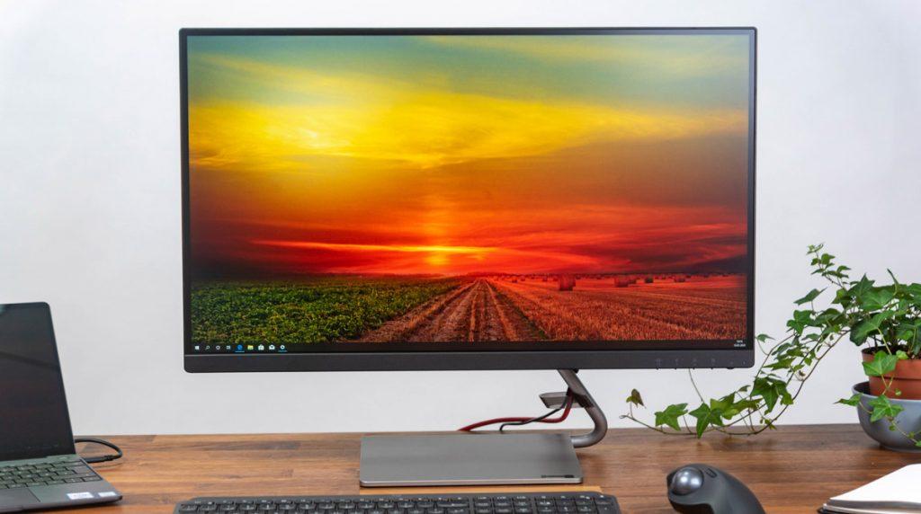Lenovo Q27q: Stylischer Monitor mit gutem QHD-Display