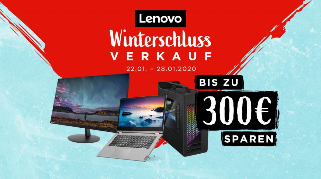 Lenovo Winterschlussverkauf: Spare bis zu 300 Euro