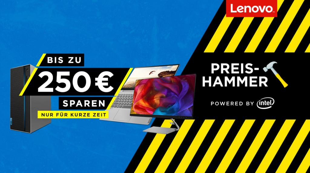 Bis zu 250 Euro sparen beim Lenovo Preishammer
