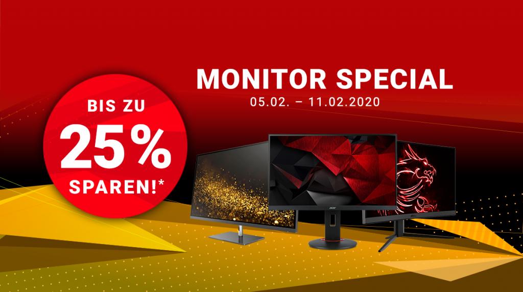 Monitor Special: Spare bis zu 25% auf ausgewählte Monitore