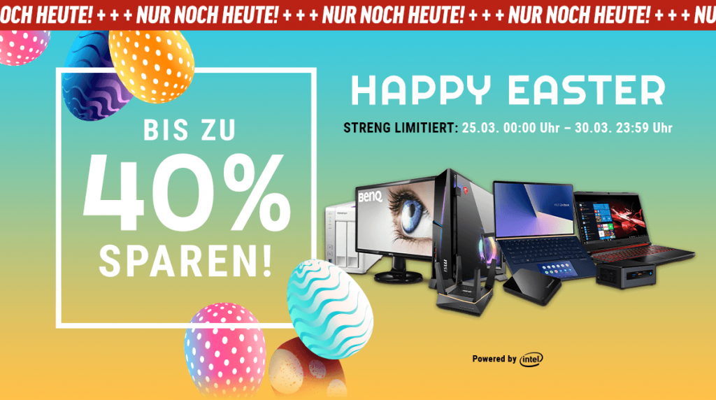 Happy Easter: Sichert euch bis zu 40% Rabatt