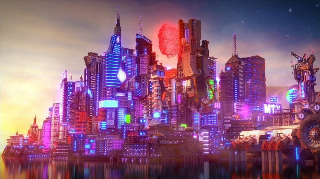 Cyberpunk 2077: Night City in Minecraft nachgebaut