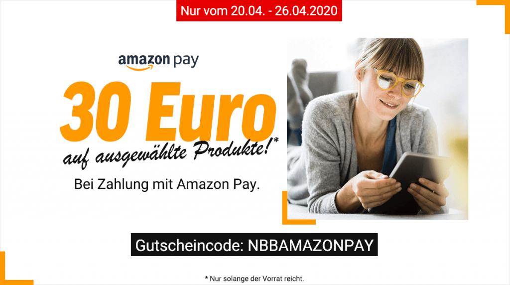 Spare 30 Euro auf ausgewählte Produkte bei Zahlung mit Amazon Pay