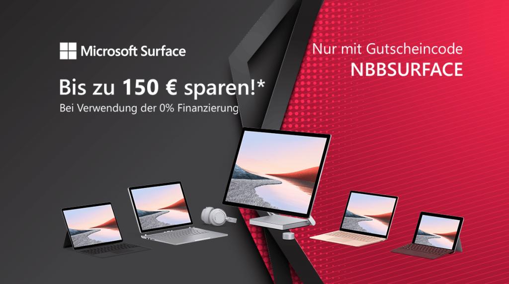 Microsoft Surface Sale: Spare bis zu 150 Euro
