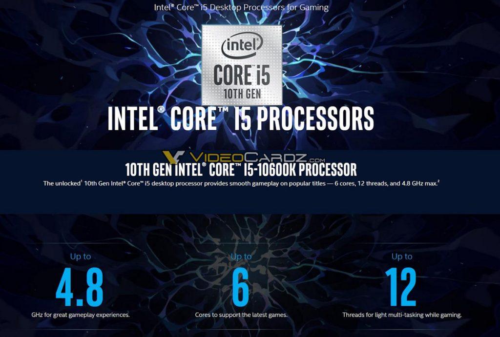 Intel-Core-i7-10600K-Specs