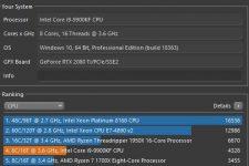 MSI Prestige P100 Cinebench R20 Multi-Core
