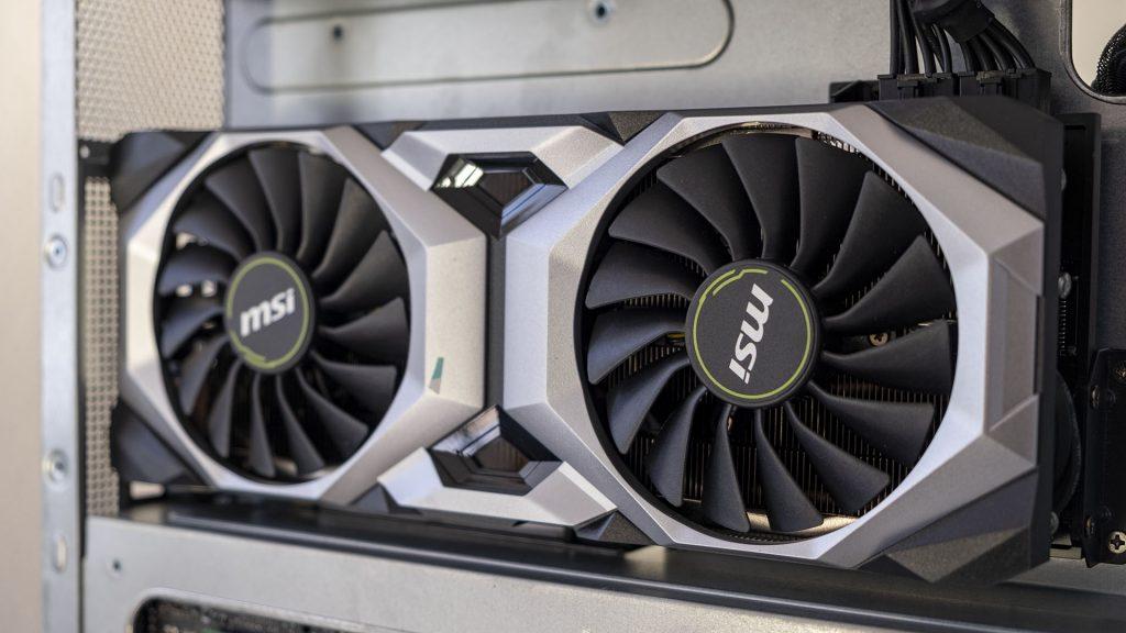 MSI Prestige P100 Creator Gaming PC Close Up GPU Nvidia RTX 2080 Ti
