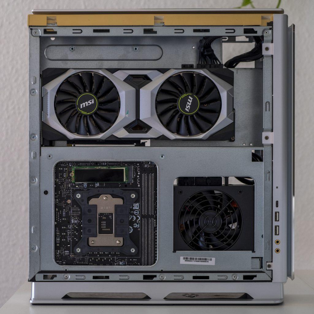 MSI Prestige P100 Creator Gaming PC Totale Seite Links GPU Nvidia RTX 2080 Ti