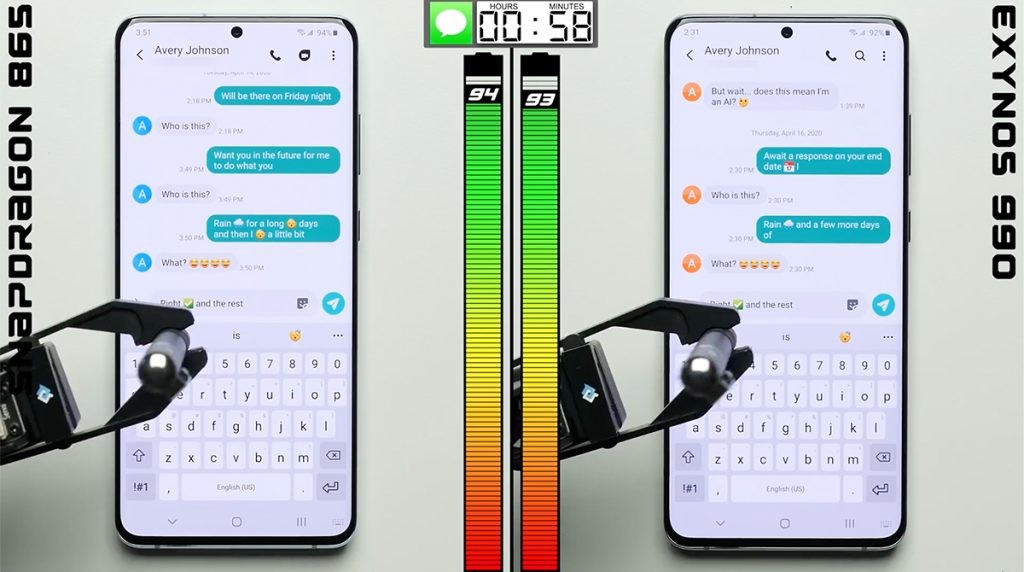 Samsung Galaxy S20: Exynos vs Snapdragon im Akku-Test
