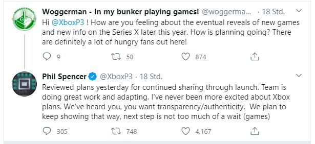 Spieel für die Xbox Series X werden bald vorgestellt