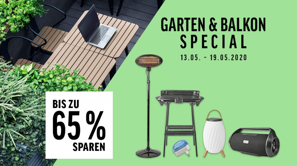 Spart bis zu 65% bei unserem Garten- & Balkon Special