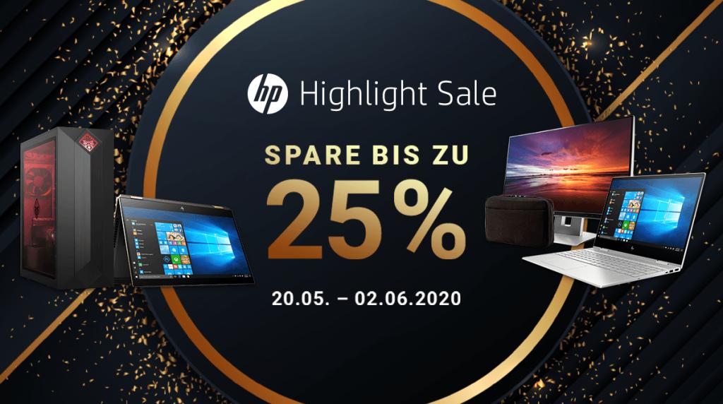 Spare bis zu 25% beim HP Highlight Sale