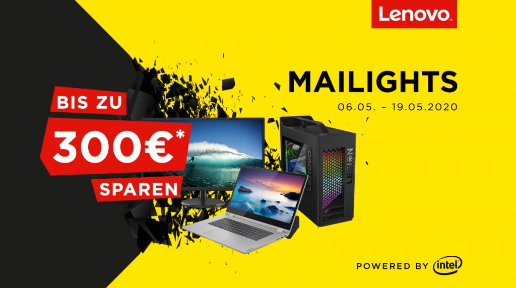 Spare bis zu 300 Euro bei unseren Lenovo Mailights