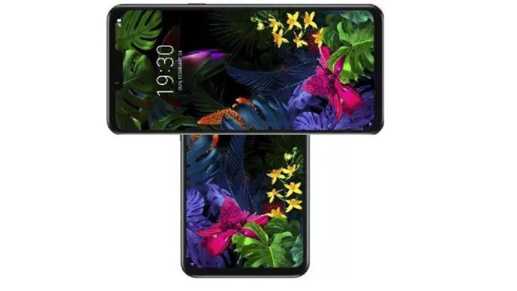 LG Smartphone rotierender Bildschirm Konzept