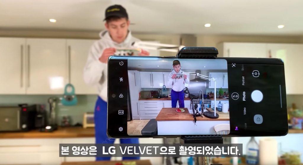 LG Velvet Kamera Smartphone