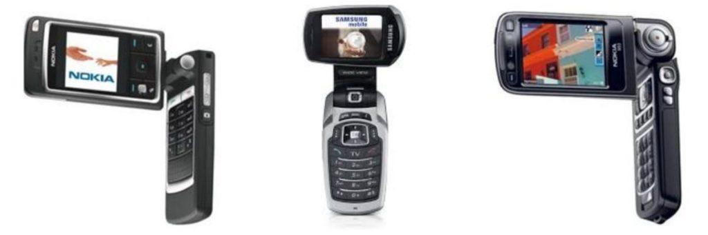 LG Smartphone Nokia Samsung Klapphandys mit rotierendem Bildschirm