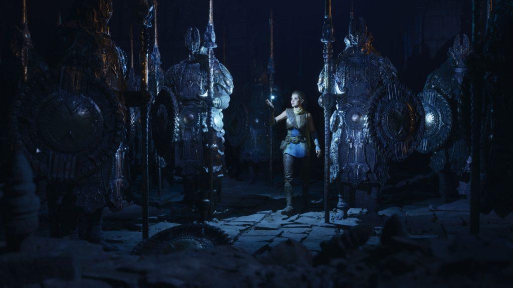 Unreal Engine 5 PlayStation 5 Lumen Nanite Statuen