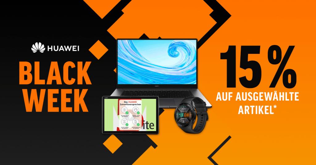 Black Week: Spare 15% auf viele Huawei-Produkte