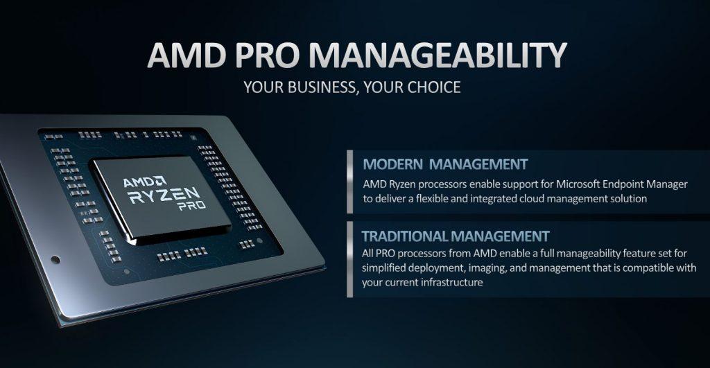 AMD Ryzen 4000 Ryzen 5 Manageability AMD Pro Security