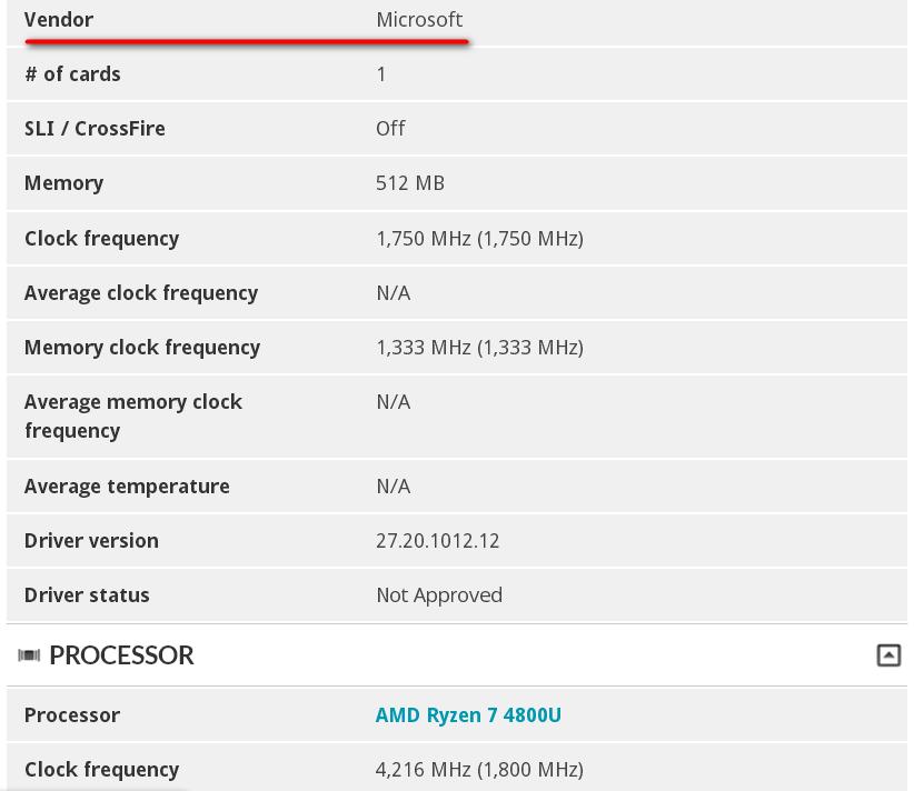 APISAK Twitter 3DMark Microsoft Surface Laptop 4 AMD Ryzen 4000