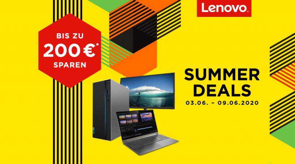 Spare bis zu 200 Euro bei unseren Lenovo Summer Deals