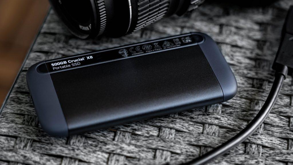 Crucial X8 Portable SSD Rückseite