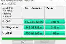 Huawei MateBook 13 AS SSD Copy