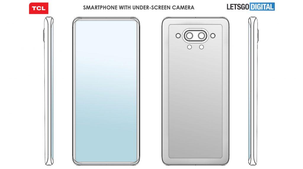 TCL patentiert ein neues Smartphone mit einer Selfie-Cam unter dem Display