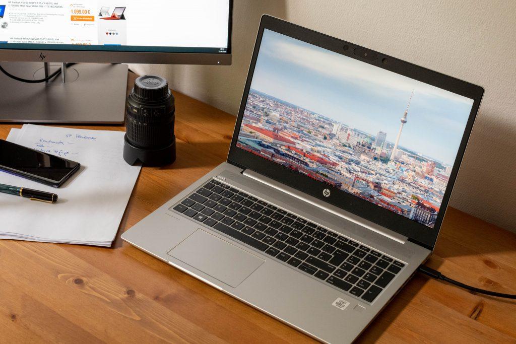 business-notebook hp probook 450 g7 im test