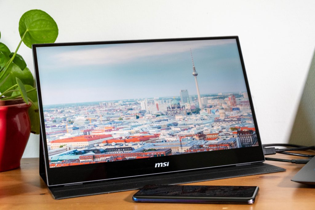 msi optix mag161v tragbares display im test
