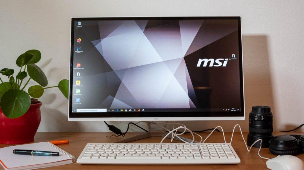 Test: MSI Pro 22XT 9M-239DE: Schlanker All-in-One-PC für das Wohnzimmer