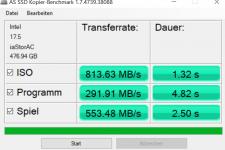 ASUS VivoBook S14 AS SSD Kopier Benchmark