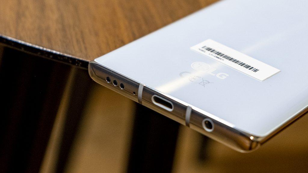 LG Velvet Smartphone Lautsprecher unten