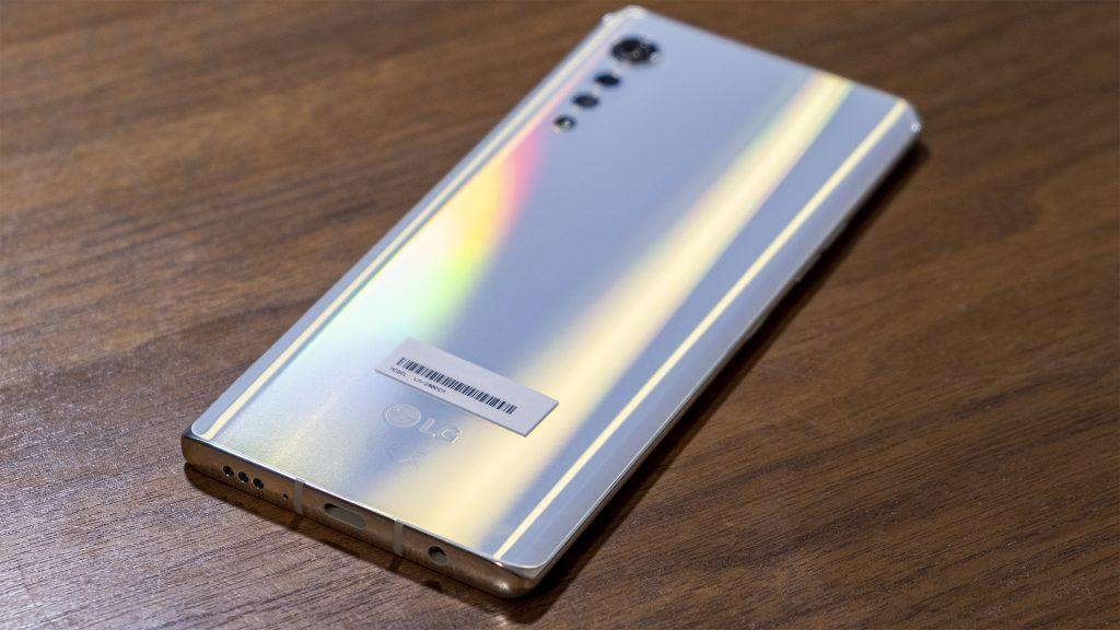 LG Velvet Smartphone Rückseite